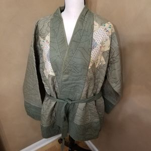 Anthropologie Quilted Patchwork Kimono in 1X